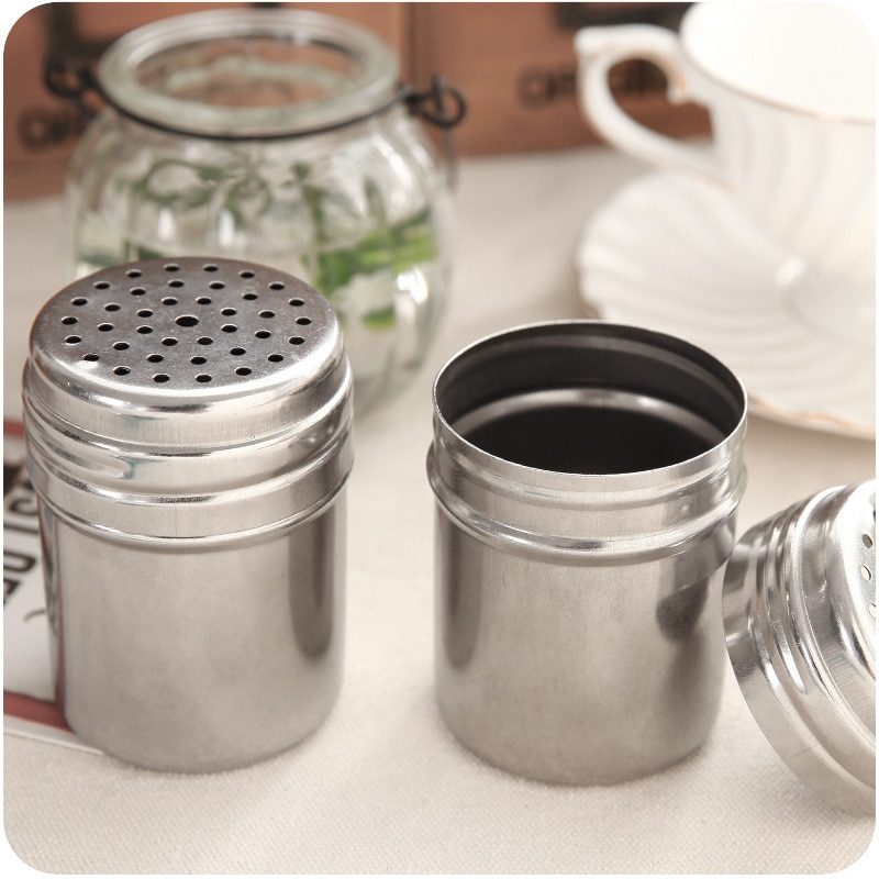 500 stücke Camping Picknick Spice Zucker Salz Pfeffer Kraut Shaker Glas Vorratsflasche Edelstahl Grill gewürz glas apothekerglas
