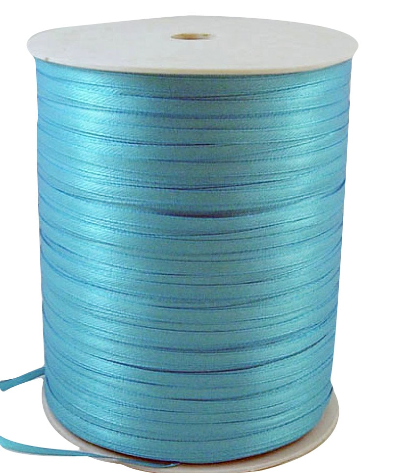 Pandahall Satin  Ribbon,  DeepSkyBlue,  3mm wide,  880yards/roll F82