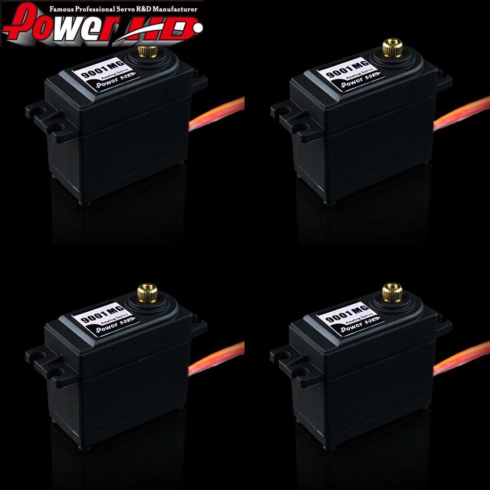 4 juegos/lote 100% HD-9001MG de energía original 9,8 KG engranaje de Metal Servo analógico 56g/.16sec servo para coche 110