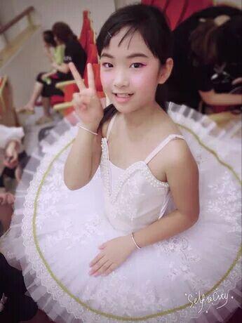 Blanco trajes ballet profesional niños Swan Lake clásico vestido de tutú de ballet Ropa de Ballet para niñas de encaje de baile
