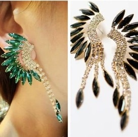2019 Spring New Nice Jewelry Crystal Angel Wig Big Drop Earring For Woman Factory Price