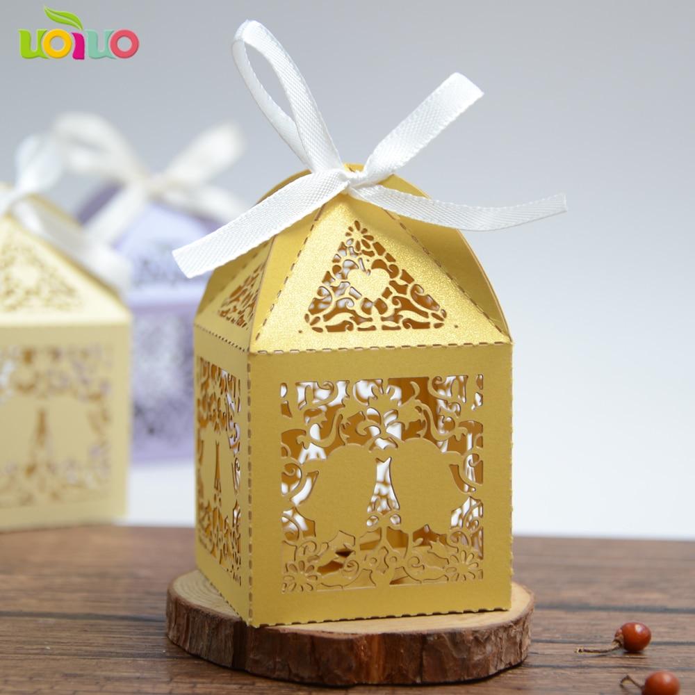 Large heart Laser cut wedding gift box souvenirs box