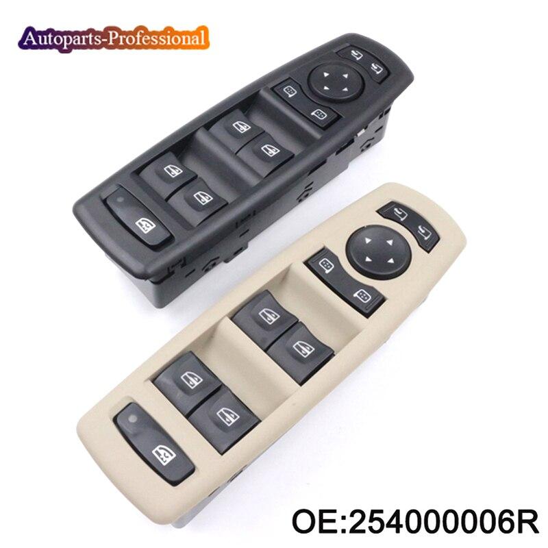 Nuevo interruptor de ventana multifuncional para coche de 2 colores para Renault Fluence LZ 1,5 DCI 2010 254000006R, accesorios para coche