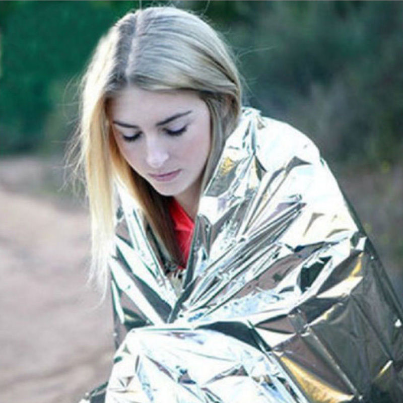 1 Uds., manta térmica para acampar, supervivencia, emergencia, exterior, rescate, nueva herramienta para senderismo, artículos deportivos