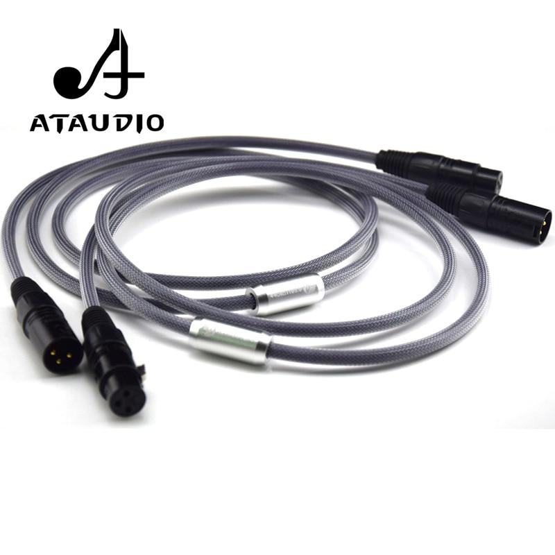 ATAUDIO une paire de câbles Hifi XLR haute qualité 3 broches 2 XLR mâle à 2 XLR femelle câble audio 1m 2m 3m 5m