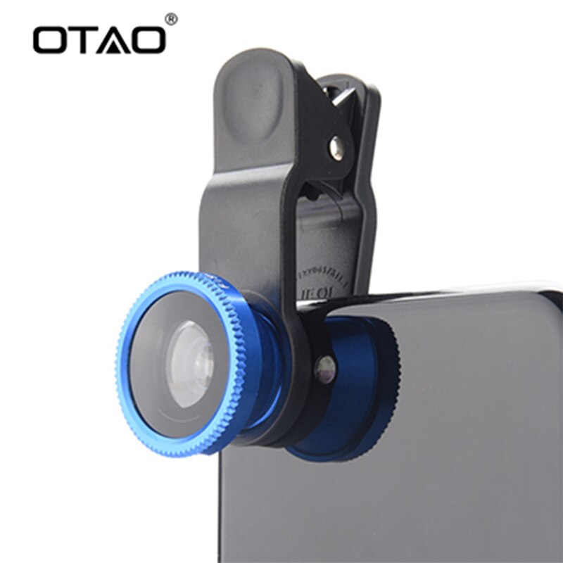 Original 3 en 1 gran angular lente ojo de pez macro Kit con Clip 0.67x teléfono móvil lentes de ojo de pez para iPhone para todos los teléfonos Samsung