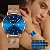 Relogio Femi CRRJU Women Watches Top Brand Luxury Waterproof Fashion Watch ladies Ultra Thin Dial Quartz Watch