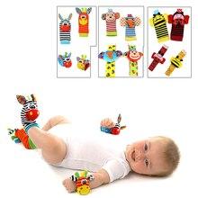Bébé jouet bébé hochets jouets animaux chaussettes dragonne avec hochet bébé pied chaussettes Bug dragonne mobile enfants jouets pour enfants