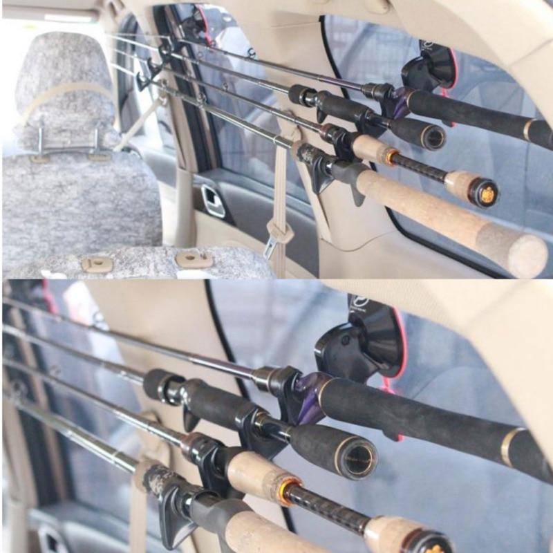 Support Portable pour canne à pêche mouche véhicule de pêche voiture support de canne à pêche support avec ventouse accessoires de pêche