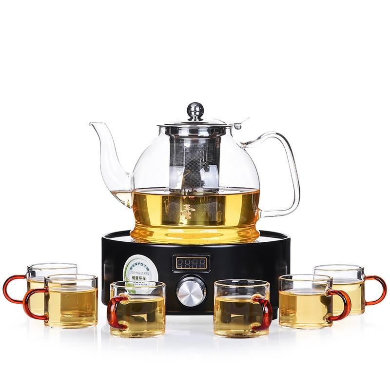 Hot sale electrical TaoLu boiled tea stove refractory glass teapot steam boiling tea, bubble tea kettle