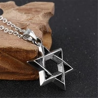 2 style chains fashion six pointed star pendant necklace men six star of david necklace hexagram jewelry gift for woman men