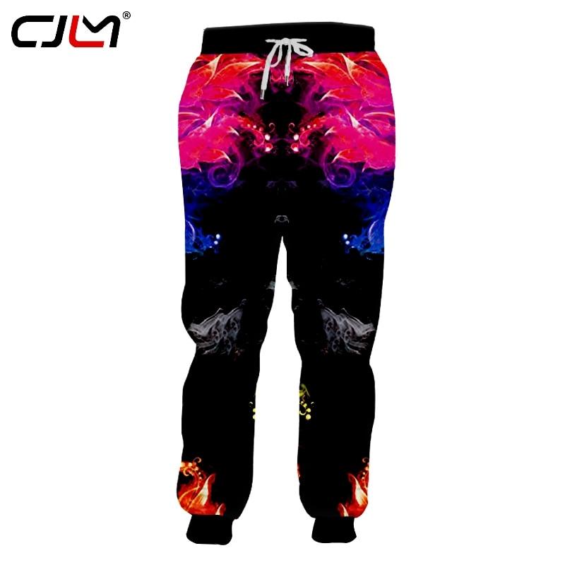 CJLM ocio deportes hombres pantalones de chándal 3D Horrible estampado de flores Pantalones Hombre Pantalones Casual marca ropa al por mayor