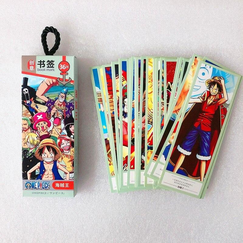 36-unids-set-anime-japones-una-pieza-de-papel-marcador-papeleria-marcadores-libro-titular-de-la-tarjeta-de-mensaje-de-papeleria-regalo