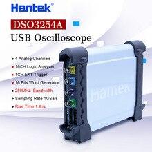 Hantek DSO3254A USB Oszilloskope 4CH 250Mhz 1GSa/s PC Lagerung Signal generator 16 Kanäle Logic Analyzer Tester Wellenform