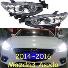 1pcs car Styling head lamp for Mazda 3 Headlight 2014~2016, halogen bulb car bumper lamp for Mazda3 axela Headlights Head Lamp