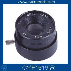 Envío Gratis 6 uds. 1/3 F1.6 CS lente fija Iris 16mm IR cámara CCTV lente profesional