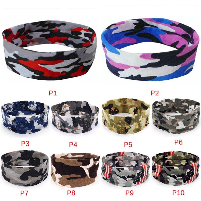 1PC Soft Camo Floral Sport Sweatband Headband Head Sweat Band Yoga Running Tennis Headscarf Silicone Anti-slip HairBand 20*6cm
