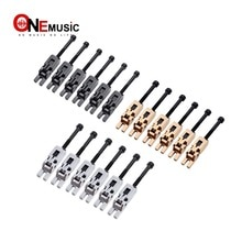 6 pièces guitare électrique Double verrouillage Systyem verrouillé cordes selles Tremolo pont noir/Chrome/or