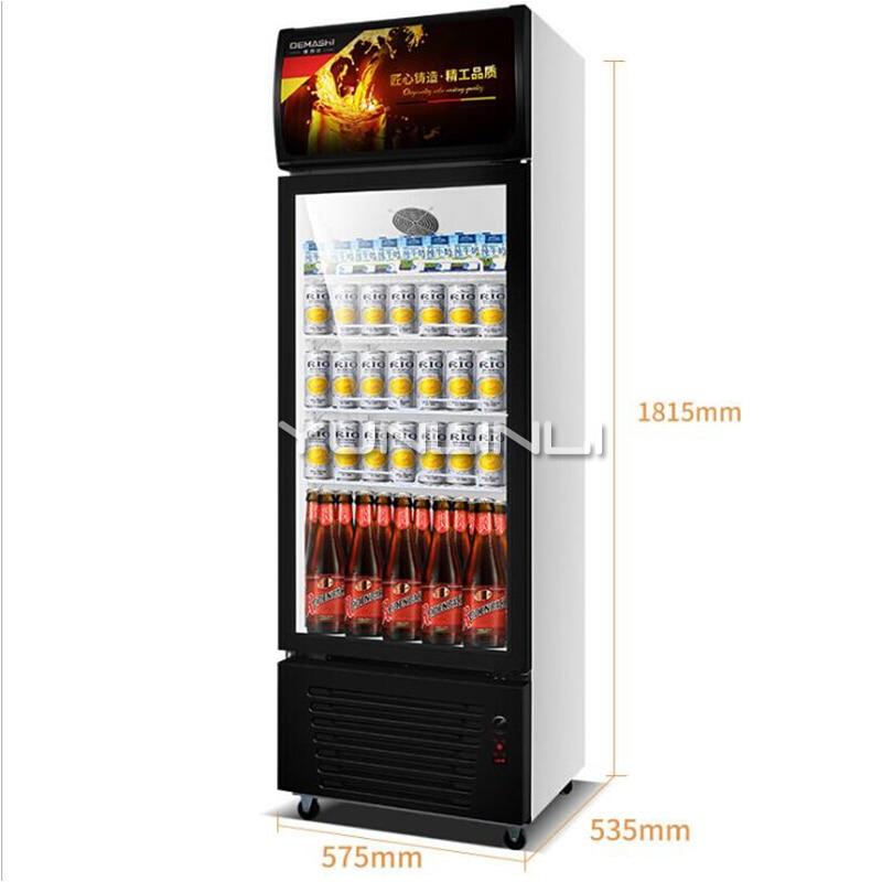 Refrigerador comercial de porta única, refrigeração, mostruário vertical, gabinete refrigerador