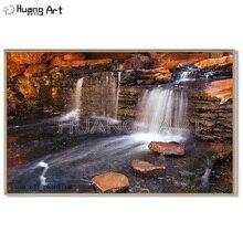 Peinture à lhuile sur toile murale   Peintre Top, peint à la main, cascade de paysage, peinture à lhuile, cascade dart, Landsacpe photos pour décor de maison