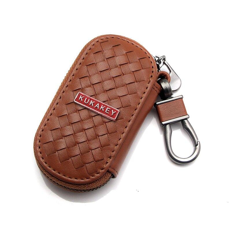 Sacoche en cuir pour clés de voiture   Housses de portefeuille pour JEEP LAND ROVER KIA LEXUS MG MAZDA MITSUBISHI pour JAGUAR NISSAN INFINITI