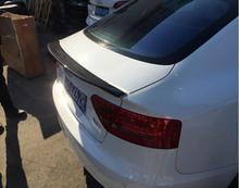 ABS PAINT & Carbon Fiber CAR REAR WING TRUNK LIP SPOILER FOR AUDI A5 S5 Audi A5 S5 Coupe 2 Door/4DOOR 2009-2017 (3STYLE)