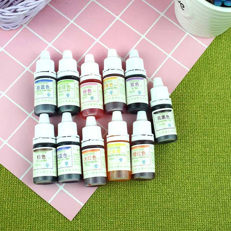 Pigmento de teñido Slime Crystal Mud, resina UV, aceite de agua, pigmento de uso Dual, artesanía DIY, triangulación de envíos
