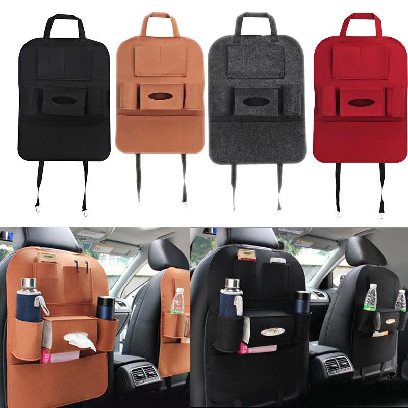 Bolsa para asiento de coche organizador Multi bolsillo bolsa de almacenamiento cubierta de asiento de coche caja trasera organizador soporte para teléfono libro coche estilo