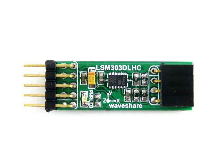 LSM303DLHC Board # 3D accelerometer and 3D magnetometer e-compass module