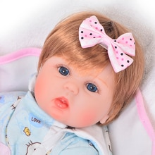 "Reborn dolls for girls 18""42cm silicone reborn baby dolls toys gift lifelike newborn bebe alive doll bebes reborn bonecas"