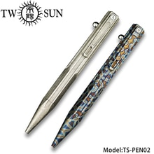 Twosun Originele TC4 Titanium Legering Schrijven Pen Business Kantoor Handtekening Pen Tactische Pen Multi-Tool Edc Pocket TS-PEN02