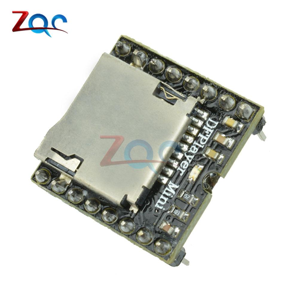 1 Uds DFPlayer Mini Módulo de reproductor MP3 Módulo de voz MP3 para Arduino DIY tarjeta TF de apoyo y disco USB