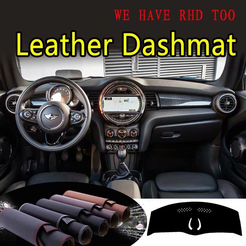 Para Mini Cooper hatchback F56 F55 Dashmat JCW 2015 2016 2017 2018 2019 Couro Cover Dashboard Traço Tapete Do Carro Personalizado styling