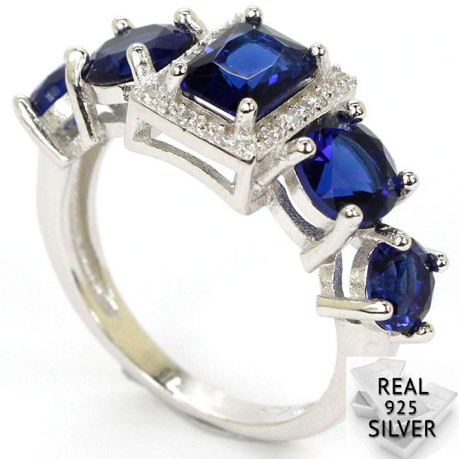 3,8g Real sólida plata esterlina 925 Deluxe superior sangre Ruby CZ presente anillos 27x10mm