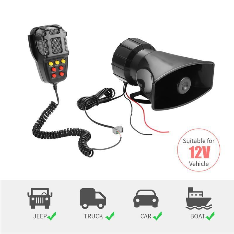 Автомобильная аварийная сирена 2020 тона Автомобильная сирена гудок микрофон PA динамик система аварийный усилитель гудок 12 в 100 Вт