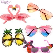 Lunettes de soleil hawaïennes pour la plage   Décorations tropicales pour flamants roses, ananas, lunettes de soleil dété, Luau, fête hawaïenne