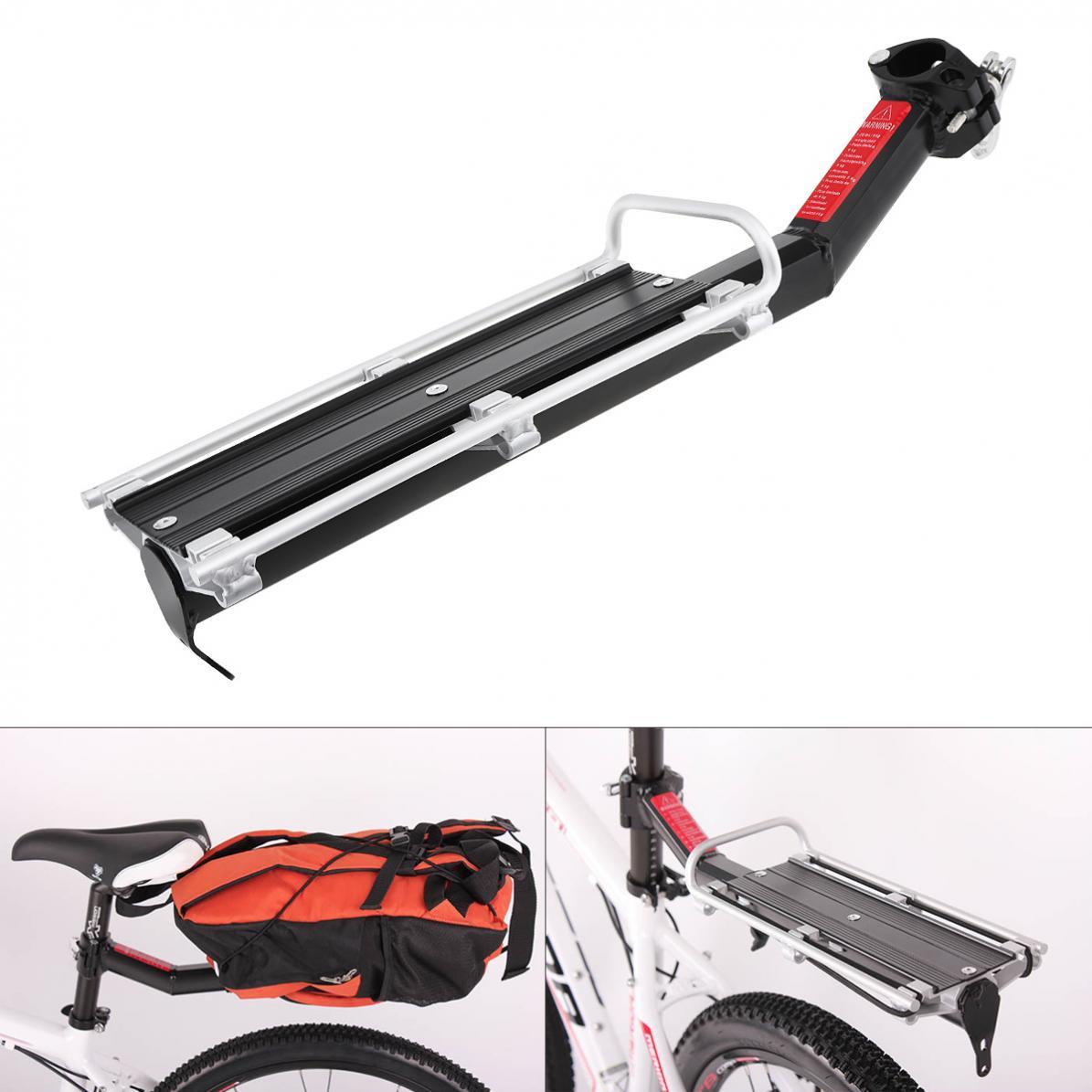 Zwarte Fiets Rack Aluminiumlegering Bagage Bagagedrager Kofferbak Voor Fietsen Mtb Bike Achter Plank Fiets Rekken