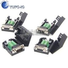 Connecteur série à souder sans tête DB9 avec Terminal de transfert rs232 COM à prise Shell 485