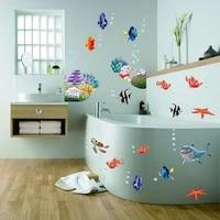 Autocollants muraux Nemo Dory Fish  sparadrap decoratifs pour chambre a coucher  salle de bain  dessin anime  animaux  Art Mural  cadeau pour enfants  Diy bricolage