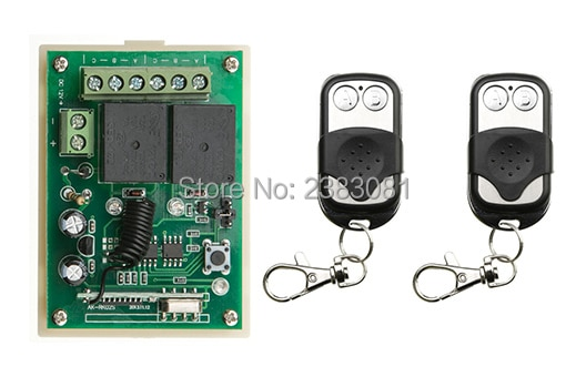 Interruptor de control remoto por radio DC12v Mini receptor botón pulsador de Metal transmisor código de aprendizaje 315/433 palanca momentánea