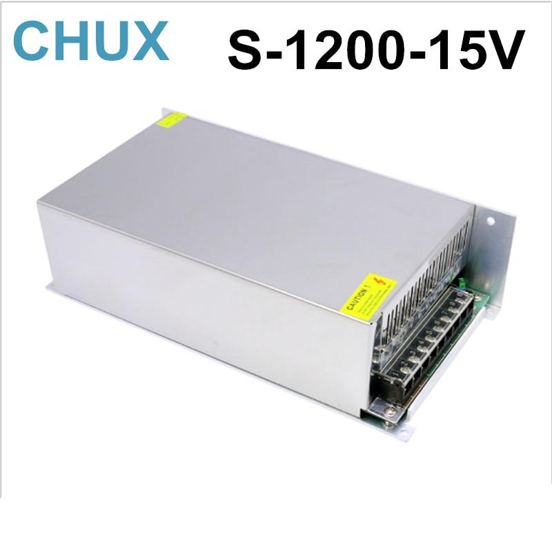 مصدر طاقة 1200 واط ، 80 أمبير ، 15 فولت ، 220 فولت ، 110 فولت تيار متردد إلى 15 فولت تيار مستمر لمصباح Led Cctv Cnc ، شحن مجاني