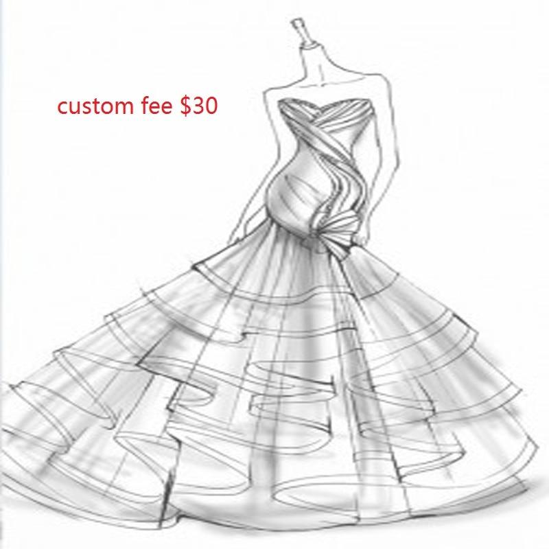 Special custom fee links for custom wedding dresses prom dress $30