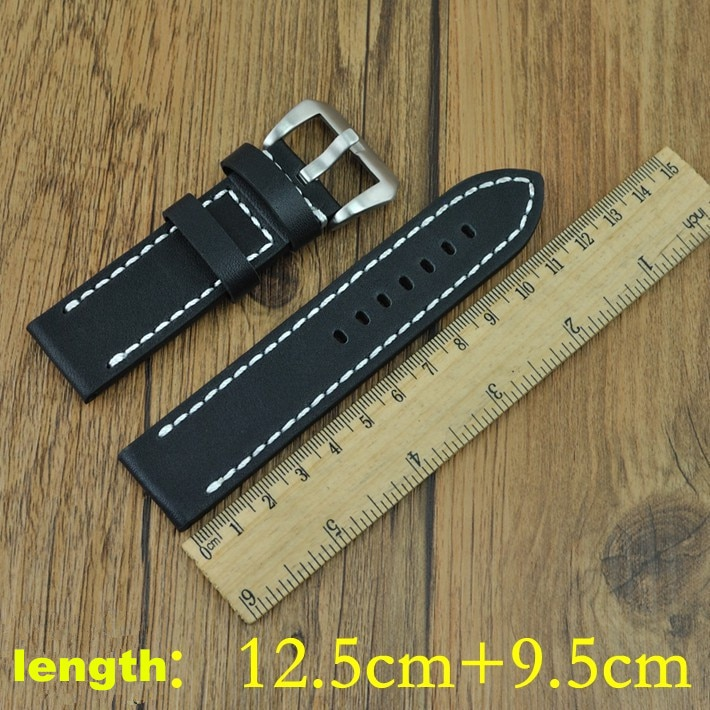 Wholesale 50PCS / lot 20MM ,22MM ,24MM,26MM genuine cow leather Watch band watch strap ( black ,coffee color) -WBG001 enlarge