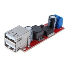 Dropshipping New Arrival DC 6V-40V To 5V 3A Double USB Charge DC-DC Step-down Converter Module High