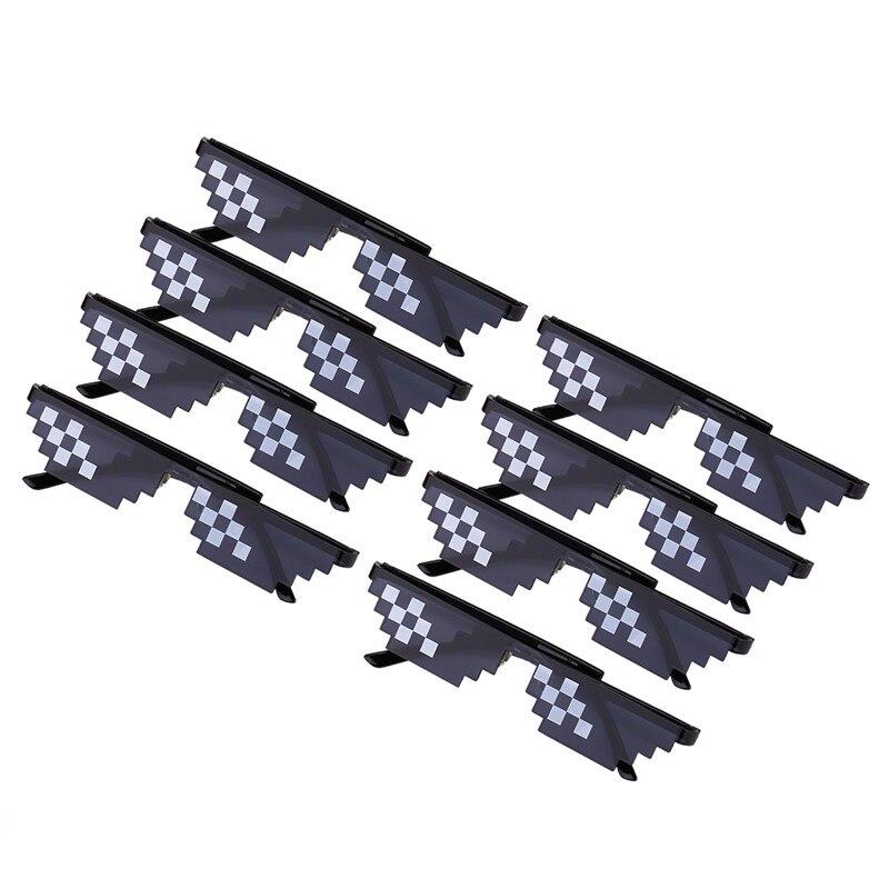Deal Mit Es Sonnenbrille Schwarz Mosaik Plus Polygonal 8 Bits Männer Frauen Thug Life Sonnenbrille 8 stück