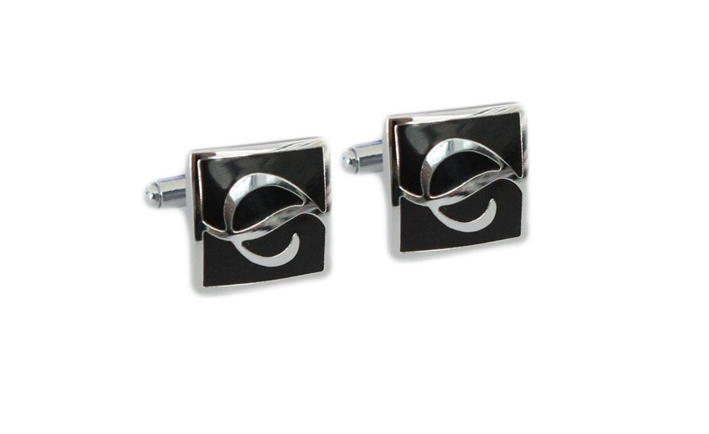 AK96 1 para gorąca sprzedaż klasyczny kwadrat czarny spinki do mankietów spinki do mankietów mężczyzna biżuteria