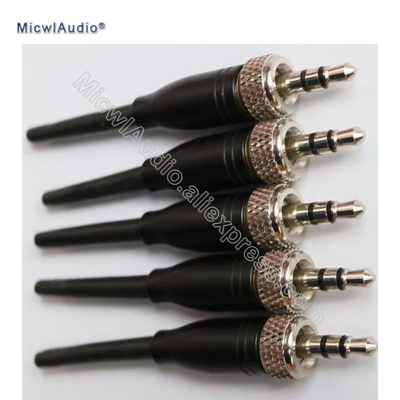 Adaptador de Áudio Conector para Sennheiser Fone de Ouvido Atacado Masculino Estéreo Bloqueio Microfone Gravata Clipe Lavalier Microfones Faça Você Mesmo 20 Pçs 1 – 8 3.5mm