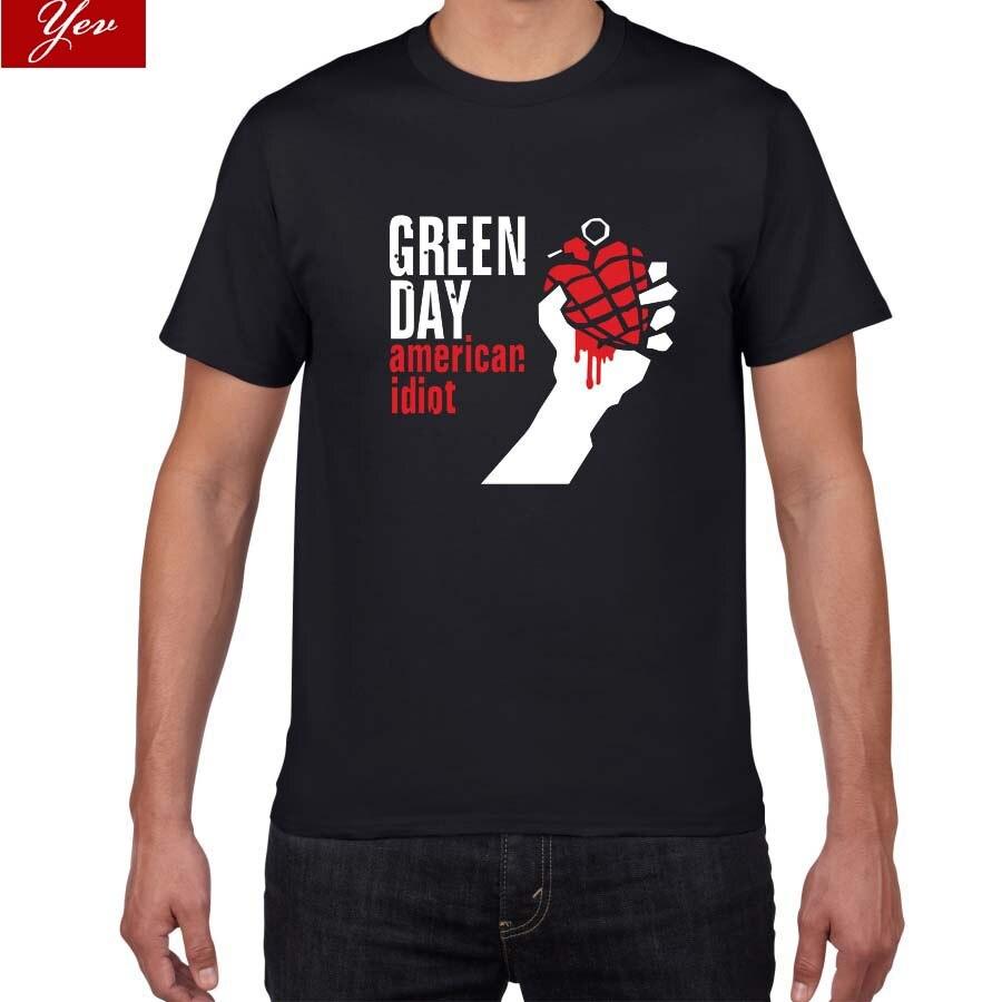 2019 novo verão famoso banda verde dia t camisa dos homens 100% algodão solto topos & t dos homens rock hip hop street wear roupas dos homens pok