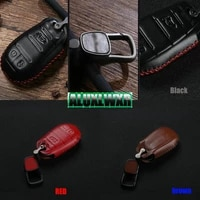 car styling car keychain leather cover wallet key remote case for alfa romeo giulia stelvio 2017 2018 key protection cover