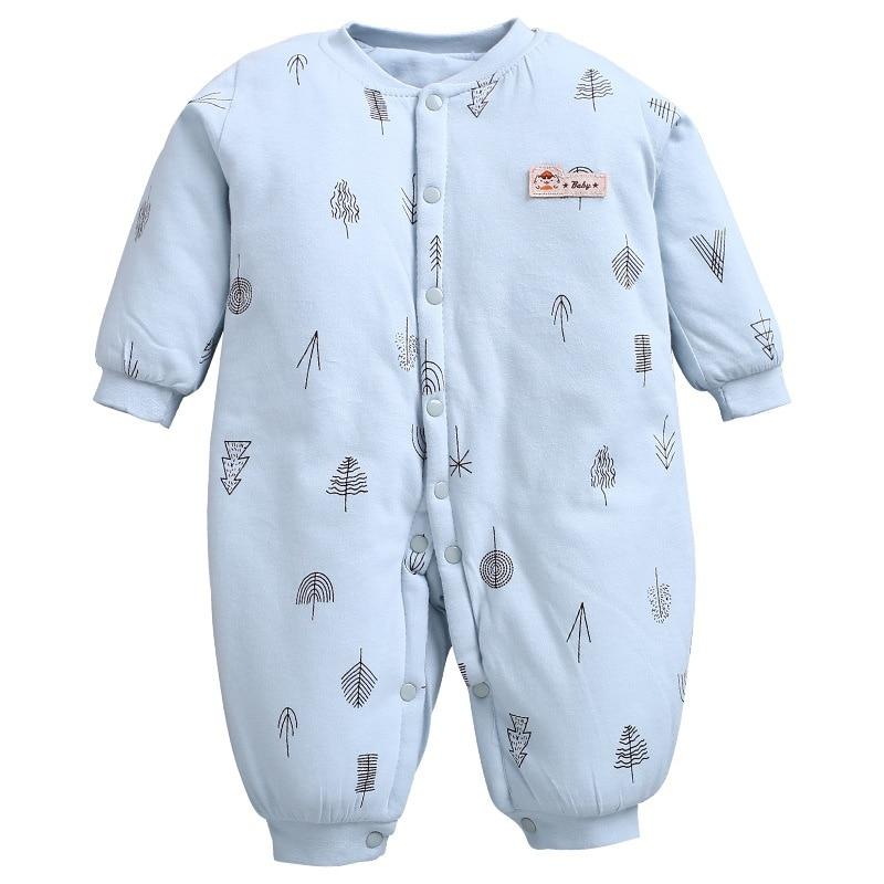 Baby Rompers Winter Newborn Baby Thicken Rompers Cute Long Sleeve Jumpsuit Girl Bodysuit Infant Boys Snowsuit